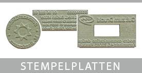 Ersatzstempelplatten für Trodatstempel und Holzstempel